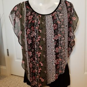 Alyx sheer tunic top with black undertop